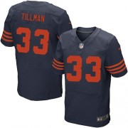 Nike NFL Chicago Bears 33 Charles Tillman Navy Blue 1940s Throwback NFL Elite Football Jersey