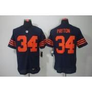 Nike NFL Chicago Bears 34 Walter Payton Navy Blue 1940s Throwback NFL Elite Football Jersey