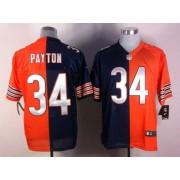 Nike NFL Chicago Bears 34 Walter Payton Navy Blue Orange NFL Elite Split Football Jersey