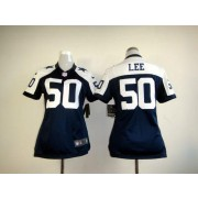 new product 70678 cae9e NFL Nike Cowboys 50 Sean Lee White Women's Limited Jersey