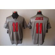 Nike Atlanta Falcons 11 Julio Jones Grey Shadow Elite Football Jersey