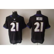 Nike NFL Baltimore Ravens 21 Lardarius Webb Black NFL Elite Football Jersey