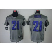 Nike NFL Baltimore Ravens 21 Lardarius Webb Grey Shadow NFL Elite Football Jersey