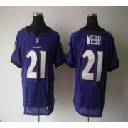 Nike NFL Baltimore Ravens 21 Lardarius Webb Purple NFL Elite Football Jersey