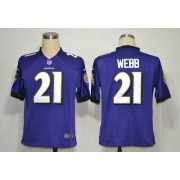 Nike NFL Baltimore Ravens 21 Lardarius Webb Purple NFL Game Football Jersey
