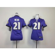 NFL Nike Baltimore Ravens 21 Lardarius Webb Purple Women's Elite Jersey