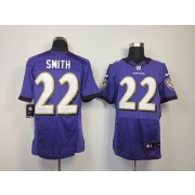 Nike NFL Baltimore Ravens 22 Jimmy Smith Purple NFL Elite Football Jersey