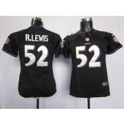 NFL Nike Baltimore Ravens 52 Ray Lewis Black Women's Elite Jersey
