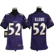 Youth Nike Baltimore Ravens 52 Ray Lewis Purple NFL Elite Jersey
