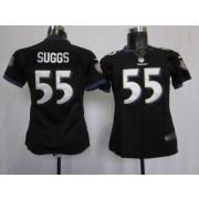 NFL Nike Baltimore Ravens 55 Terrell Suggs Black Women's Elite Jersey