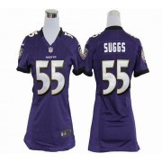 NFL Nike Baltimore Ravens 55 Terrell Suggs Purple Women's Elite Jersey