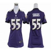 NFL Nike Baltimore Ravens 55 Terrell Suggs Purple Women's Elite Jersey