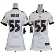 NFL Nike Baltimore Ravens 55 Terrell Suggs White Women's Elite Jersey