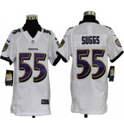 Youth Nike Baltimore Ravens 55 Terrell Suggs White NFL Elite Jersey
