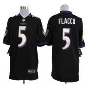 Nike NFL Baltimore Ravens 5 Joe Flacco Black NFL Game Football Jersey