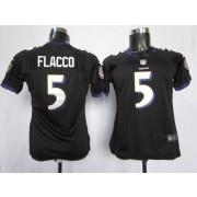 NFL Nike Baltimore Ravens 5 Joe Flacco Black Women's Elite Jersey