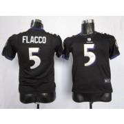 Youth Nike Baltimore Ravens 5 Joe Flacco Black NFL Elite Jersey