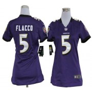 NFL Nike Baltimore Ravens 5 Joe Flacco Purple Women's Elite Jersey