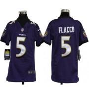 Youth Nike Baltimore Ravens 5 Joe Flacco Purple NFL Elite Jersey