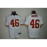 Nike Washington Redskins No.46 Alfred Morris White Men Embroidered Elite Jersey