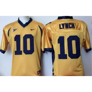 NCAA California Golden Bears 10 Marshawn Lynch Gold Men Jersey