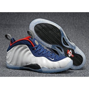 Air Foamposite One Olympic White Blue Shoes