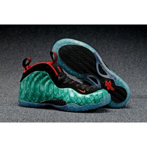 Air Foamposite One Olympic Shoes Cyan Black