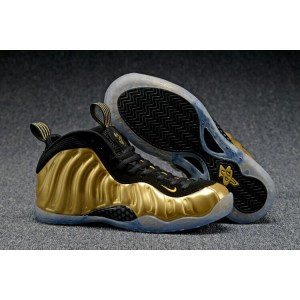Air Foamposite One Olympic Shoes Gold Black