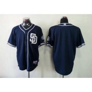 MLB Padres Blank Dark Blue Cool Base Men Jersey