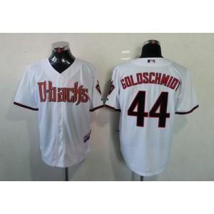 MLB Diamondbacks 44 Paul Goldschmidt White Cool Base Men Jersey