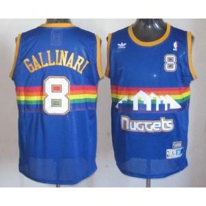 NBA Nuggets 8 Danilo Gallinari Light Blue Throwback Men Jersey