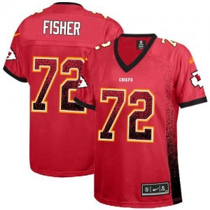 Nike Chiefs No.72 Eric Fisher Red Team Color Women's Football Inwrought Elite Drift Fashion Jersey