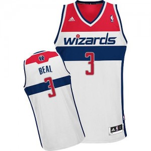 NBA Wizards 3 Bradley Beal White Revolution 30 Men Jersey