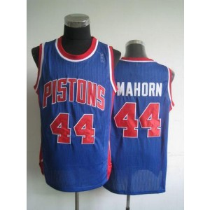 NBA Pistons 44 Rick Mahorn Blue Throwback Men Jersey