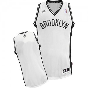 NBA Nets Blank White Revolution 30 Men Jersey