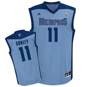 NBA Grizzlies 11 Mike Conley Light Blue Revolution 30 Men Jersey