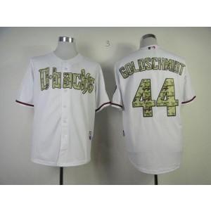 MLB Diamondbacks 44 Paul Goldschmidt White USMC Fashion Base Men Jersey