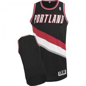 NBA Blazers Blank Black Revolution 30 Men Jersey