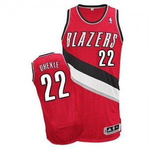 NBA Blazers 22 Clyde Drexler Red Revolution 30 Men Jersey