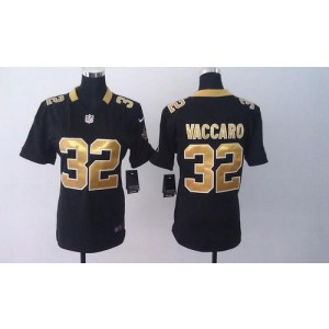 Nike Saints 32 Kenny Vaccaro Black Team Color Women's Embroidered NFL Elite Jersey For Sale