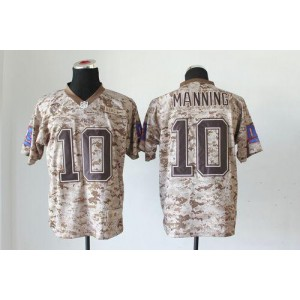 Nike New York Giants No.10 Eli Manning Camo USMC Embroidered New Elite Jersey