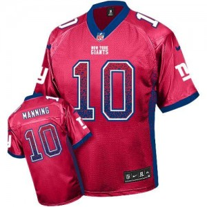Nike New York Giants No.10 Eli Manning Red Alternate Embroidered Elite Drift Jersey