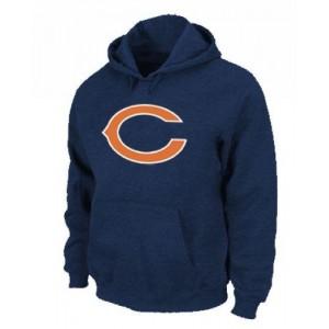 Chicago Bears Logo Pullover Dark Blue Hoodie