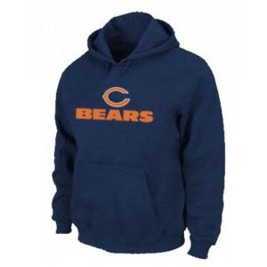 Chicago Bears Sideline Legend Logo Pullover Dark Blue Hoodie