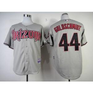 MLB Diamondbacks 44 Paul Goldschmidt Grey Cool Base Men Jersey