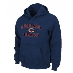 Chicago Bears Heart & Soul Pullover Dark Blue Hoodie