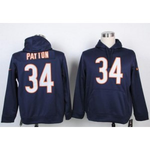 Chicago Bears No.34 Walter Payton Navy Blue Pullover Hoodie