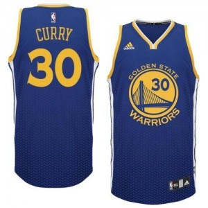NBA Warriors 30 Stephen Curry Blue Resonate Swingman Men Jersey