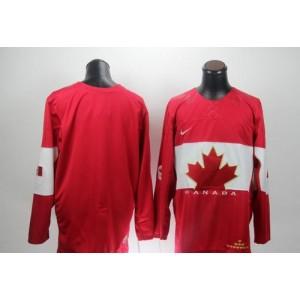 Team Canada 2014 Olympic Blank Red Hockey Jersey