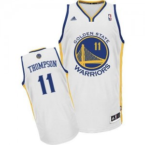NBA Warriors 11 Klay Thompson White Revolution 30 Men Jersey